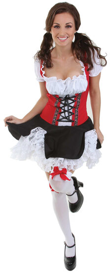 Red Beer Maiden Oktoberfest Adult Costume