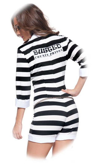 Sexy Jail Bird Convict Costume