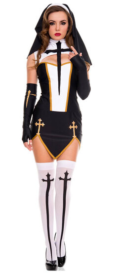 Sexy Bad Habit Nun Costume