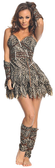 Sexy Goin' Clubbin Cave Woman Costume