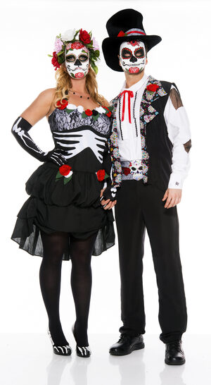 Mrs. Muerte Day of the Dead Plus Size Costume