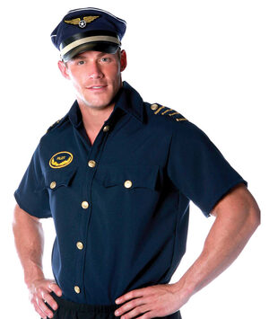 Mens Pilot Shirt Adult Costume