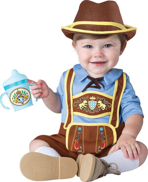 Little Lederhosen Baby Costume