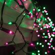 150 Mini Purple, Green Icicle Lights, Black Wire