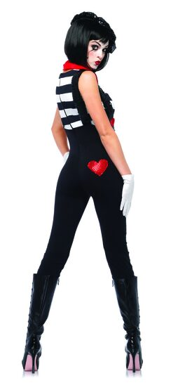 Sexy Marvelous Mime Costume