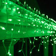 150 Mini Green Icicle Lights, White Wire