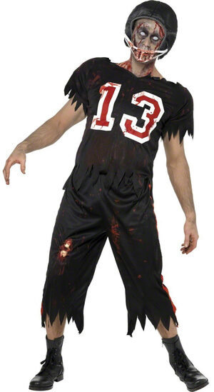 High School Horror Zombie Quarterback Adult Costume