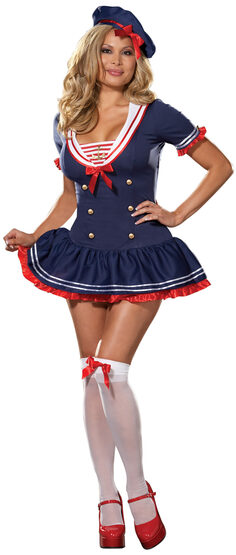 Hello Sexy Plus Size Sailor Girl Costume