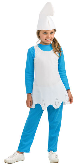Girls Smurfette Kids Costume