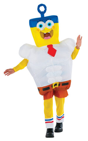 Inflatable Invincibubble Spongebob Kids Costume