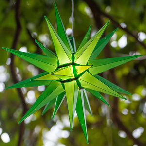 "14"" Green LED Moravian Star Halloween Decor"