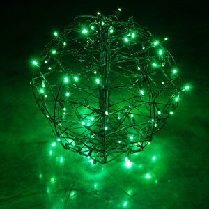 "Green 15"" LED Halloween Light Sphere"