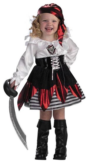 Girls Petite Pirate Toddler Costume