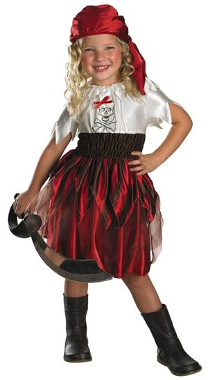 Sassy Swashbuckler Toddler Pirate Costume