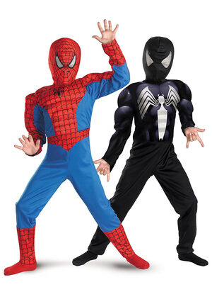 Reversible SpiderMan 3 Red To Black Muscle Chest Kids Costume