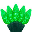 70 C6 Green LED Halloween Lights on Green Wire