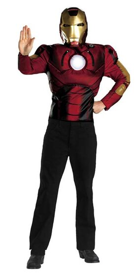 Iron Man Movie Muscle Chest Adult Costume