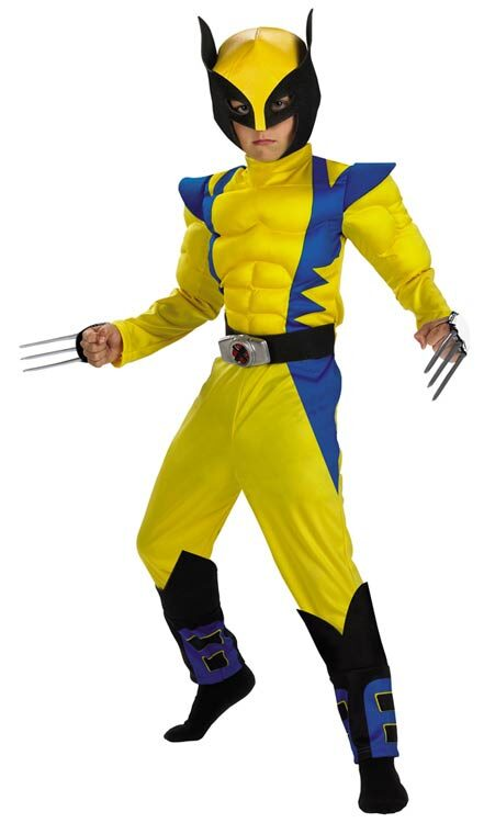 Wolverine Muscle Chest Kids Costume  sc 1 st  Mr. Costumes & Wolverine Muscle Chest Kids Costume - Mr. Costumes