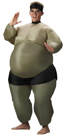 Inflatable Sumo Wrestler Funny Adult Costume