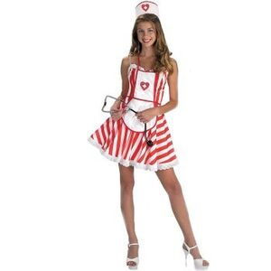 Handy Candy Striper Adult Nurse Costume