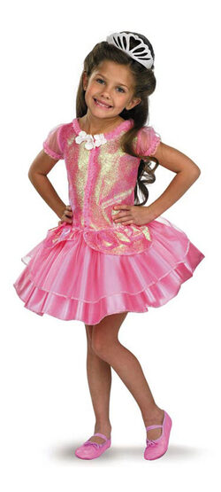 Sparkle Pink Princess Kids Costume