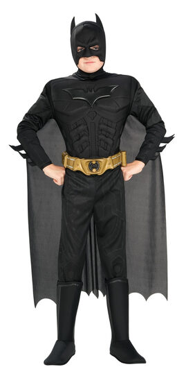 Kids Deluxe Muscle Chest Batman Dark Knight Costume