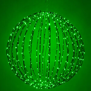 "Green 16"" LED Halloween Light Sphere"