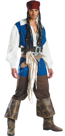 Captain Jack Sparrow Quality Adult Pirates of Caribbean Costume