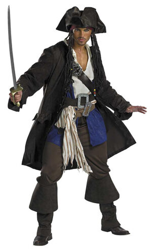 Captain Jack Sparrow Prestige Pirates of the Caribbean Adult Costume