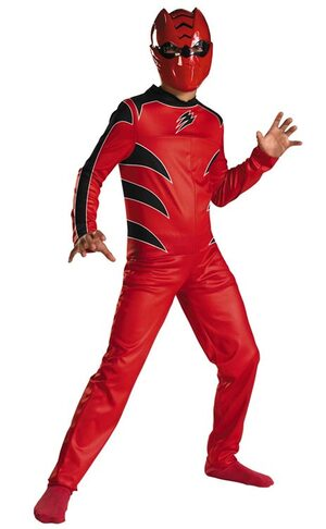 Red Power Ranger Kids Costume