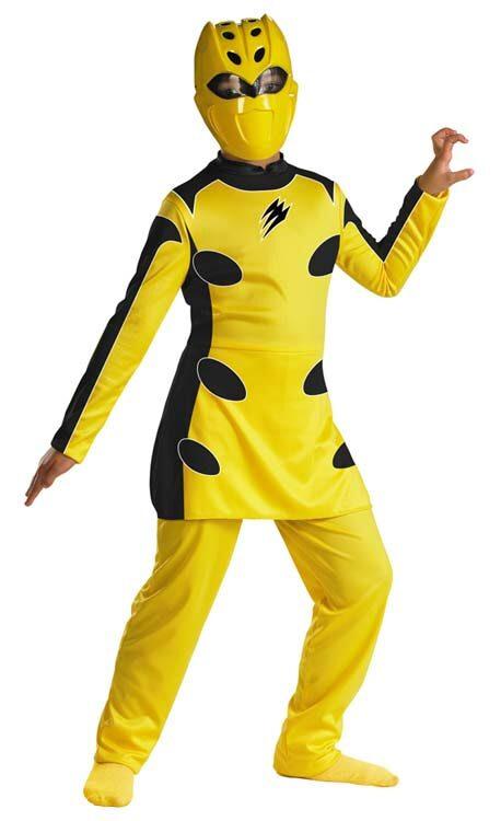 Sexy yellow power ranger costume