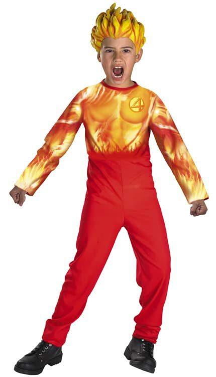 The Human Torch Kids Superhero Costume  sc 1 st  Mr. Costumes & The Human Torch Kids Superhero Costume - Mr. Costumes