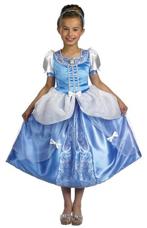 Kids Disney Deluxe Princess Cinderella Costume