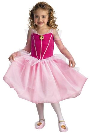 Disney Sleeping Beauty Aurora Ballerina Kids Costume
