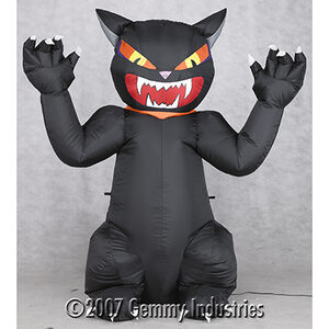 4 Foot Airblown Outdoor Screaming Black Cat