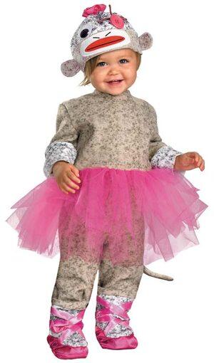 Sock Monkey Ballerina Baby Costume