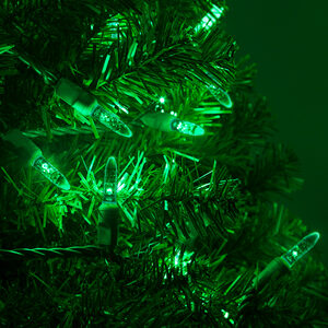 70 M5 Green LED Halloween Lights on Green Wire