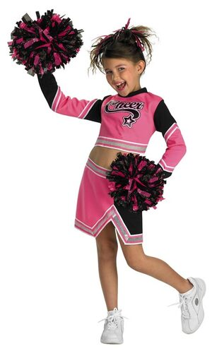 Go Team Pink Cheerleader Kids Costume