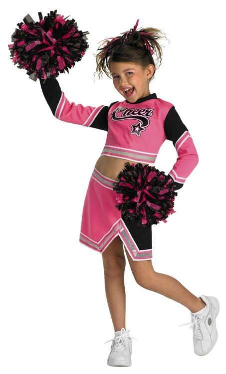 Go Team Pink Cheerleader Kids Costume  sc 1 st  Mr. Costumes & Go Team Pink Cheerleader Kids Costume - Mr. Costumes