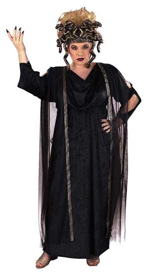 Black Medusa Plus Size Greek Costume