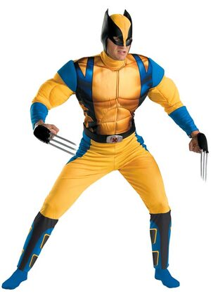 Wolverine Muscle Chest Adult Costume