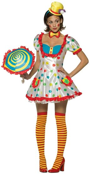 Womens Sexy Clown Costume