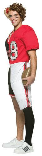 Dual Cheerleader Football Adult Costume