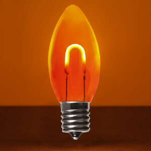 C9 Amber / Orange LED Light Bulbs
