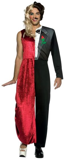 Dual Man and Woman Funny Adult Costume - Mr. Costumes - photo#34