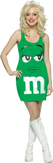 Sexy Green M and M Costume