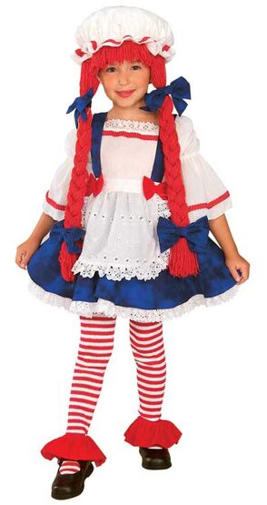 Rag Doll Girl Toddler Costume