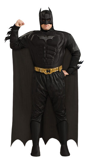 Plus Size Deluxe Muscle Chest Batman Dark Knight Costume