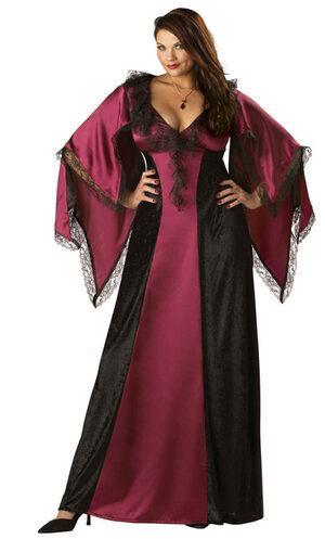 Womens Classic Vampiress Plus Size Costume