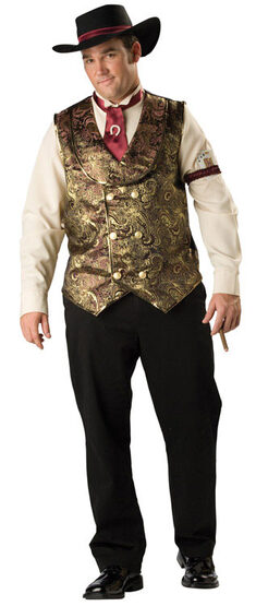 Gamblin Man Plus Size Western Costume